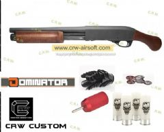 CRW Custom DM870 Sawed-off Shotgun (Use APS co2 shells)